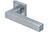 scoop slidebloc light türdrücker form 1002 in edelstahl matt auf quadratrosette