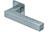 scoop flache lösungen türdrücker form 1002 in edelstahl matt auf flacher quadratrosette