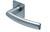 scoop flache lösungen türdrücker form 1003 in edelstahl matt auf flacher quadratrosette
