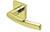 scoop edelstahl türdrücker form 2003 in pvd messinggelb auf quadratrosette