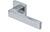 scoop pullbloc 3.0 türdrücker form 1005 in edelstahl poliert auf quadratrosette