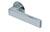 scoop flache lösungen türdrücker form 1005 in edelstahl poliert auf flacher rundrosette