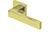 scoop edelstahl türdrücker form 1005 in pvd messinggelb auf quadratrosette