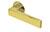 scoop flache lösungen türdrücker form 1005 in pvd messinggelb auf flacher rundrosette