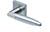 scoop edelstahl türdrücker form 1007 in edelstahl matt auf quadratrosette