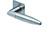 scoop flache lösungen türdrücker form 1007 in edelstahl matt auf flacher quadratrosette