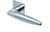 scoop flache lösungen türdrücker form 1007 in edelstahl poliert auf flacher quadratrosette