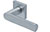 scoop edelstahl türdrücker form 1008 in edelstahl matt auf quadratrosette