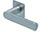 scoop flache lösungen türdrücker form 1008 in edelstahl matt auf flacher quadratrosette