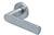 scoop edelstahl türdrücker form 1008 in edelstahl matt auf rundrosette
