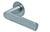 scoop flache lösungen türdrücker form 1008 in edelstahl matt auf flacher rundrosette