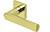 scoop edelstahl türdrücker form 1008 in pvd messinggelb auf quadratrosette