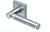 scoop edelstahl türdrücker form 1013 in edelstahl matt auf quadratrosette