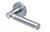 scoop edelstahl türdrücker form 1013 in edelstahl matt auf rundrosette