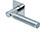 scoop flache lösungen türdrücker form 1013 in edelstahl poliert auf flacher quadratrosette