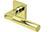scoop edelstahl türdrücker form 1016 in pvd messinggelb auf quadratrosette