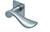scoop flache lösungen türdrücker form 1018 in edelstahl matt auf flacher quadratrosette