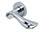 scoop pullbloc 3.0 türdrücker form 1018 in edelstahl poliert auf rundrosette