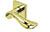 scoop pullbloc 3.0 türdrücker form 1018 in pvd messinggelb auf quadratrosette