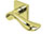 scoop edelstahl türdrücker form 1018 in pvd messinggelb auf quadratrosette
