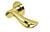 scoop flache lösungen türdrücker form 1018 in pvd messinggelb auf flacher rundrosette