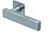 scoop flache lösungen türdrücker form 1019 in edelstahl matt auf flacher quadratrosette