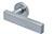 scoop pullbloc 3.0 türdrücker form 1019 in edelstahl matt auf rundrosette