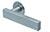 scoop flache lösungen türdrücker form 1019 in edelstahl matt auf flacher rundrosette