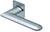 scoop flache lösungen türdrücker form 1021 in edelstahl matt auf flacher quadratrosette