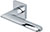 scoop pullbloc 3.0 türdrücker form 1021 in edelstahl poliert auf quadratrosette
