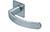 scoop flache lösungen türdrücker form 1023 in edelstahl matt auf flacher quadratrosette