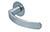 scoop flache lösungen türdrücker form 1023 in edelstahl matt auf flacher rundrosette