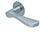 scoop flache lösungen türdrücker form 1024 in edelstahl matt auf flacher rundrosette