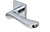 scoop pullbloc 3.0 türdrücker form 1024 in edelstahl poliert auf quadratrosette