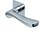 scoop flache lösungen türdrücker form 1024 in edelstahl poliert auf flacher quadratrosette