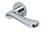 scoop pullbloc 3.0 türdrücker form 1024 in edelstahl poliert auf rundrosette