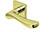 scoop edelstahl türdrücker form 1024 in pvd messinggelb auf quadratrosette