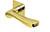 scoop flache lösungen türdrücker form 1024 in pvd messinggelb auf flacher quadratrosette