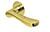 scoop flache lösungen türdrücker form 1024 in pvd messinggelb auf flacher rundrosette