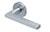 scoop pullbloc 3.0 türdrücker form 1025 in edelstahl matt auf rundrosette