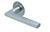 scoop flache lösungen türdrücker form 1025 in edelstahl matt auf flacher rundrosette