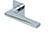 scoop flache lösungen türdrücker form 1025 in edelstahl poliert auf flacher quadratrosette