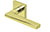 scoop edelstahl türdrücker form 1025 in pvd messinggelb auf quadratrosette
