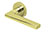 scoop pullbloc 3.0 türdrücker form 1025 in pvd messinggelb auf rundrosette