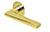 scoop flache lösungen türdrücker form 1025 in pvd messinggelb auf flacher rundrosette