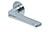 scoop flache lösungen türdrücker form 1026 in edelstahl poliert auf flacher rundrosette