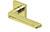 scoop edelstahl türdrücker form 1026 in pvd messinggelb auf quadratrosette