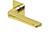 scoop flache lösungen türdrücker form 1026 in pvd messinggelb auf flacher quadratrosette