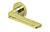 scoop pullbloc 3.0 türdrücker form 1026 in pvd messinggelb auf rundrosette