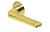 scoop flache lösungen türdrücker form 1026 in pvd messinggelb auf flacher rundrosette